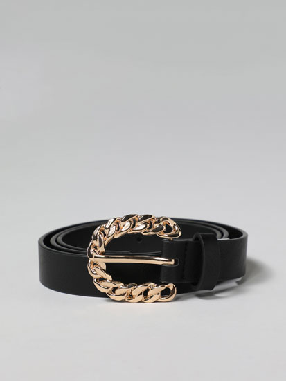 Chain buckle belt