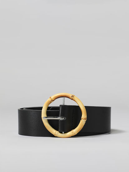 Bamboo-effect belt