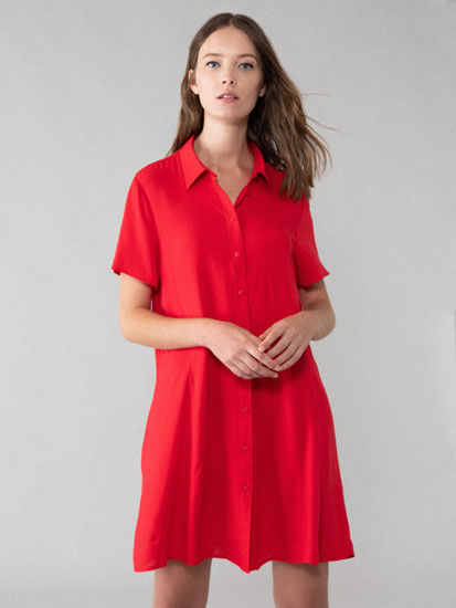 Short-sleeved shirt dress