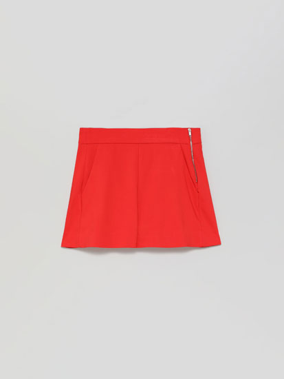 High-waist chino shorts