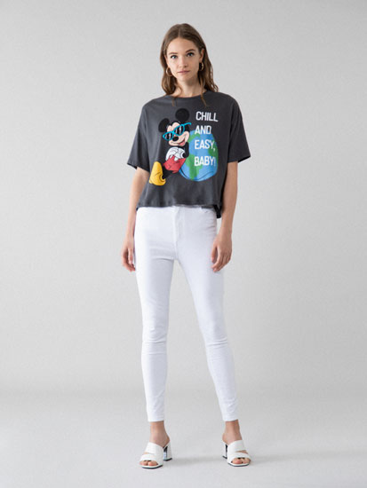 T-shirt cropped Mickey Mouse ©Disney