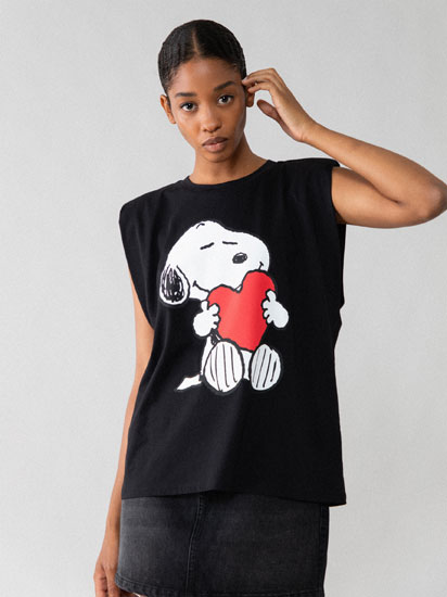 Snoopy™ shoulder-padded T-shirt