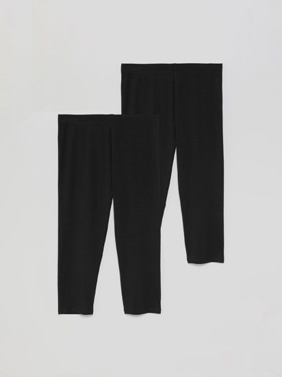 Pack de 2 leggings curtas básicas