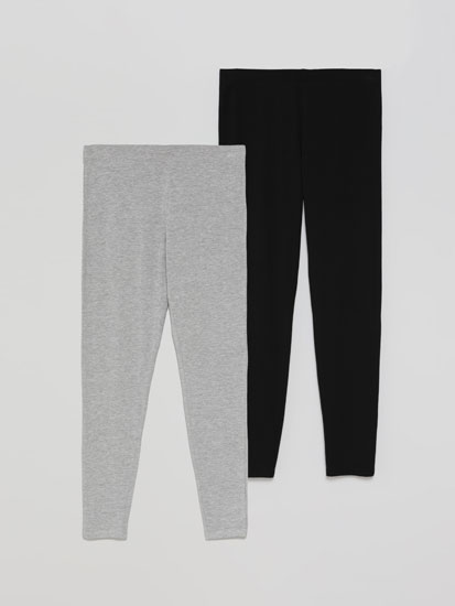 Pack 2 leggings longos