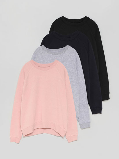 Pack of 4 basic sweatshirts