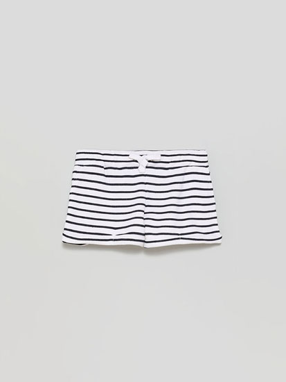 Basic printed plush shorts