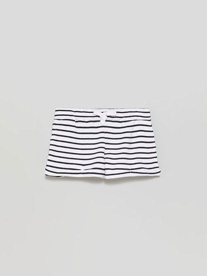 Pantalón curto felpa básico estampado