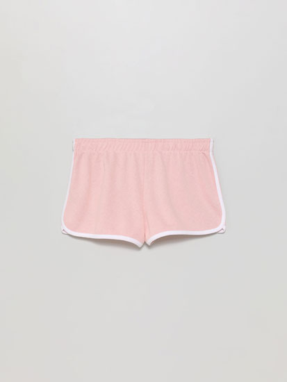 Basic plush shorts with piping