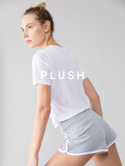 Pantalón curto básico de felpa con reberete