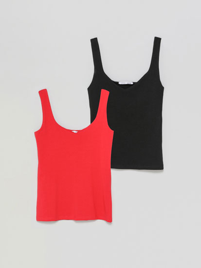 2-Pack of wide-strap tops