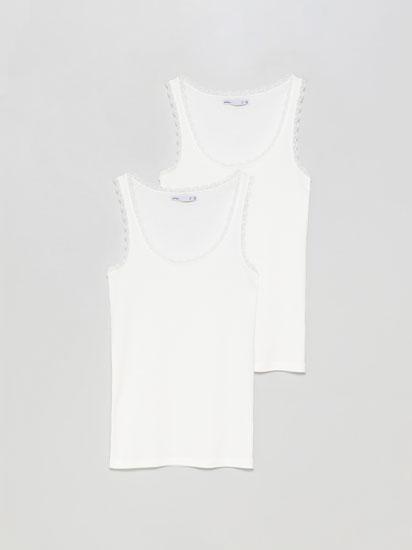 Pack de 2 camisetas de tirantes con encaje
