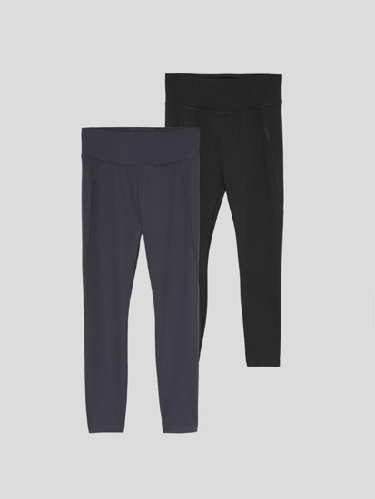 2-Pack of plain sports leggings