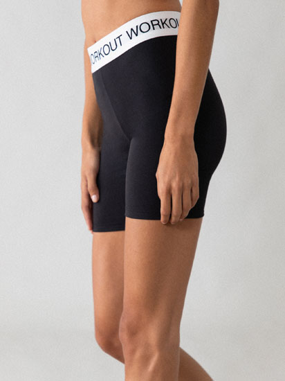 Leggings ciclista amb text
