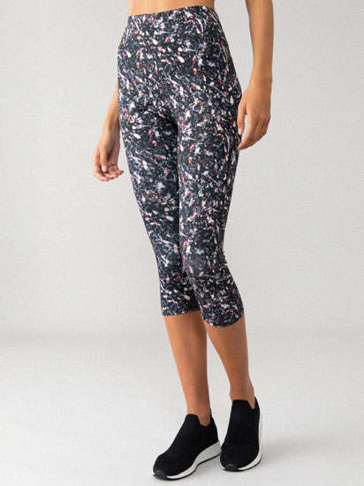 Printed capri sports leggings