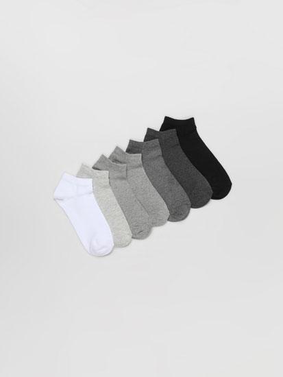 Pack de 7 pares de calcetines cortos básicos