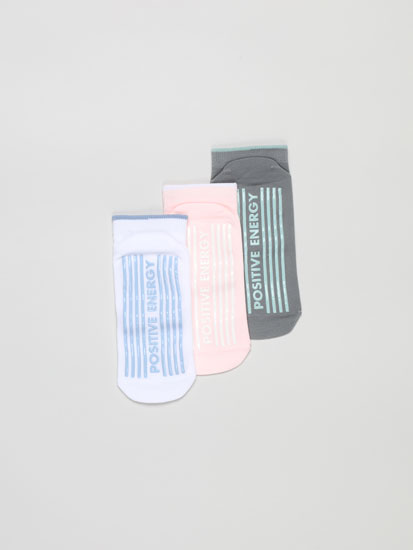 Pack de 3 pares de calcetines tobilleros yoga