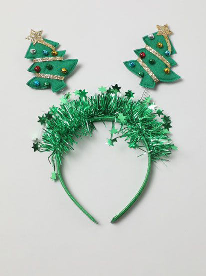 Christmas headband with sleigh bells