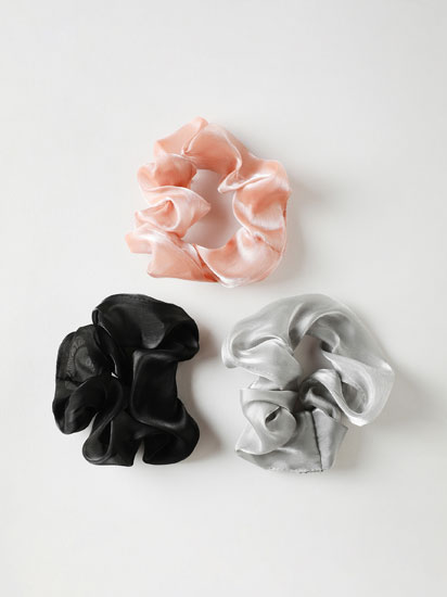 3-Pack of organza scrunchies