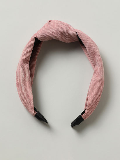 Corduroy headband with knot