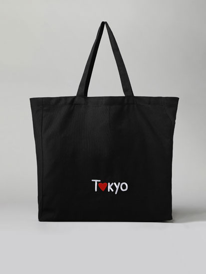 Tokyo fabric tote bag