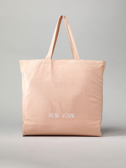 New York fabric tote bag