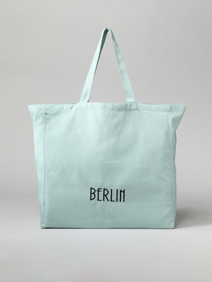 Berlin fabric tote bag