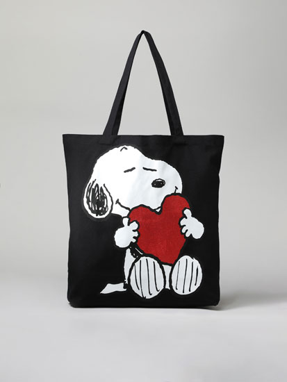 Bolso shopper tejido Snoopy™