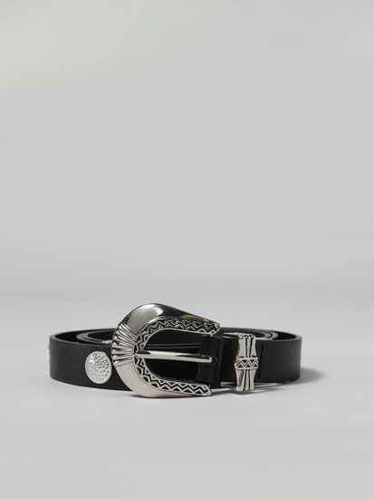 Metallic details belt