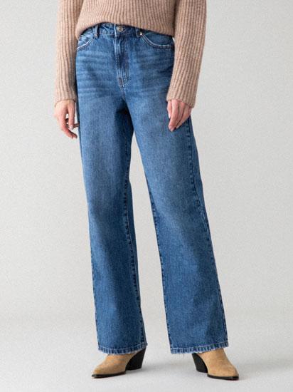 Jeans de perna larga