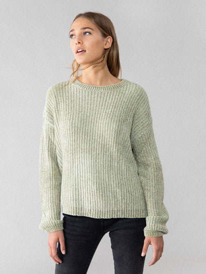 Basic chenille sweater