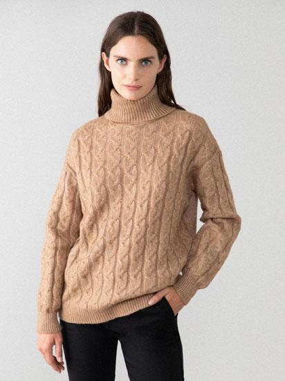 Soft high neck sweater