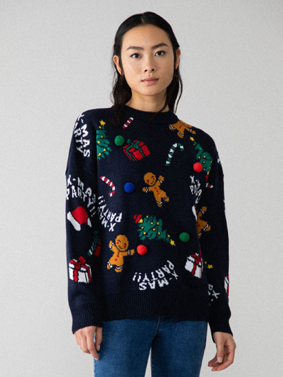Christmas sweater with music and lights