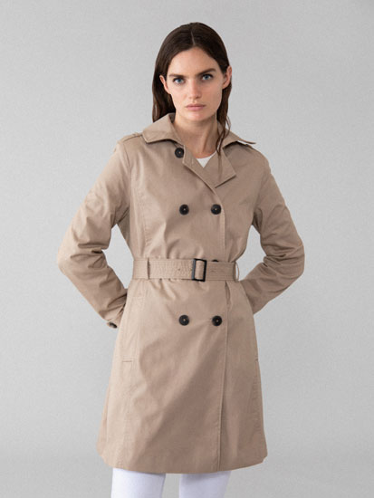 Basic belted trench coat