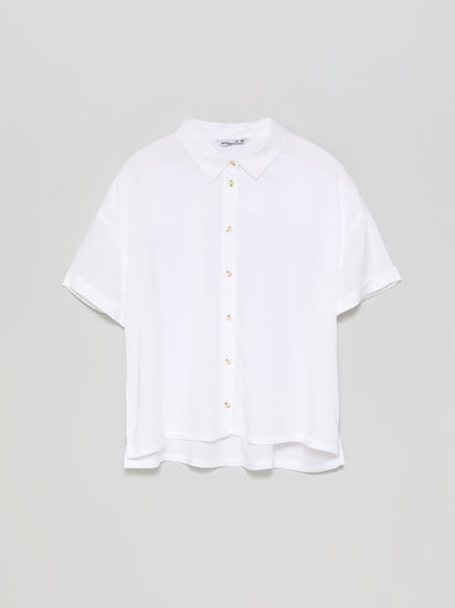Short sleeve cropped shirt