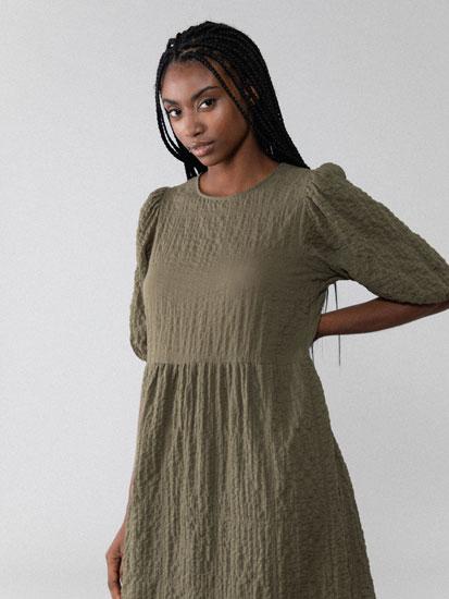 Textured midi dress