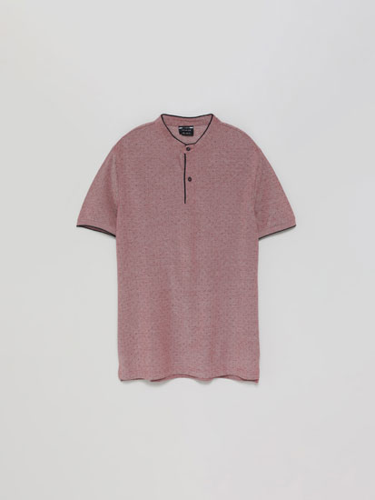 Polo Oxford Gola Mao