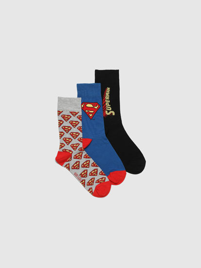 Pack 3 pares de calcetíns Superman