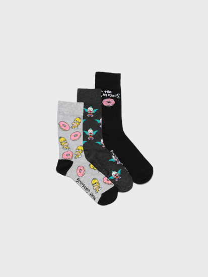 Pack of 3 pairs of long The Simpsons socks