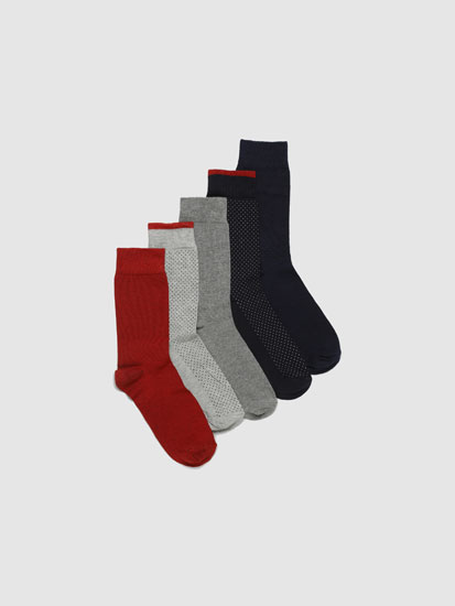 Pack de 5 Pares de Calcetines Largos