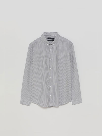 Easy-Iron Striped Shirt