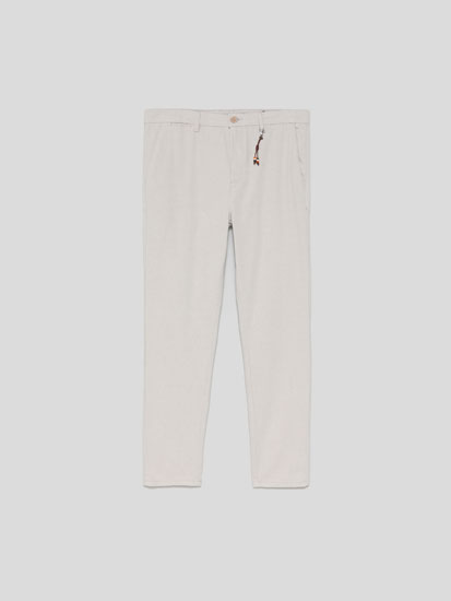 Chino trousers with detail