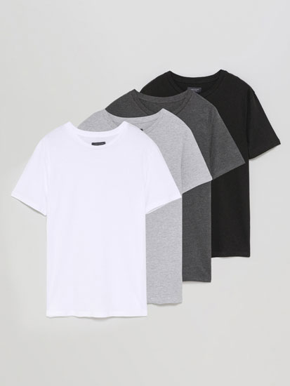 Pack de 4 t-shirts básicas