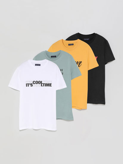 Pack de 4 t-shirts estampadas