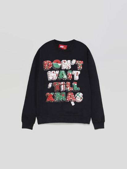 Sweatshirt com estampado de Natal