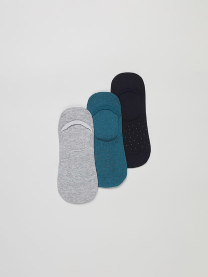 Pack of 3 pairs of no-show socks