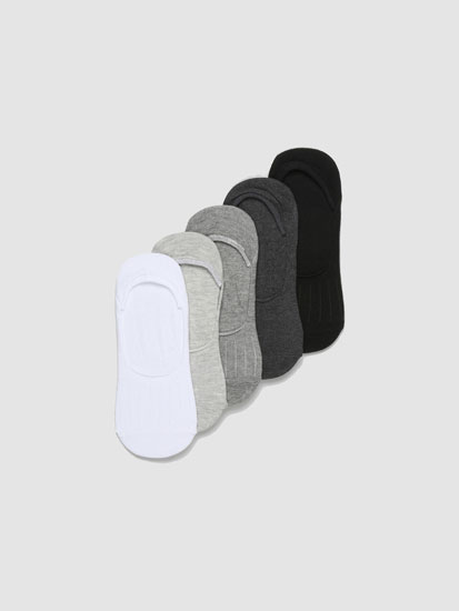 Pack of 5 pairs of basic no-show socks