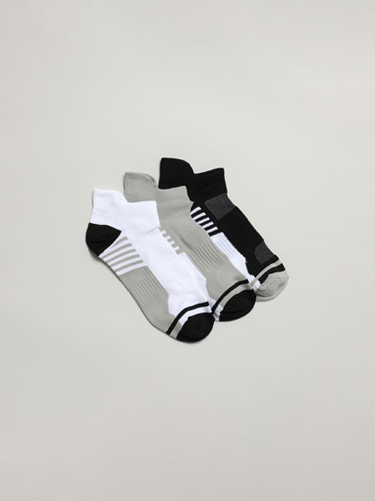 3-Pack of sporty ankle socks