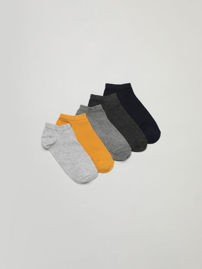 Pack of 5 pairs of basic ankle socks