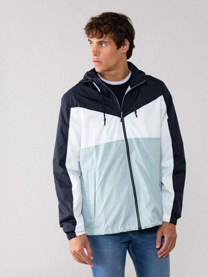 Lightweight colour block jacket