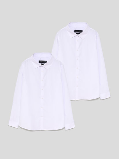 Pack of 2 basic easy to iron shirts